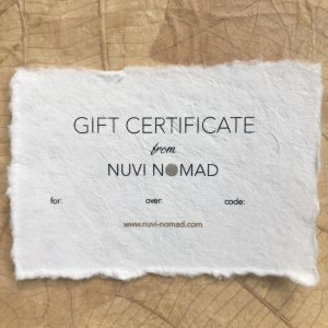 Nuvi Nomad vegan fashion accessories gift card