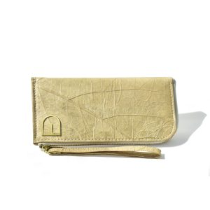 Women's Wallet - vegan leather made from teak leaf