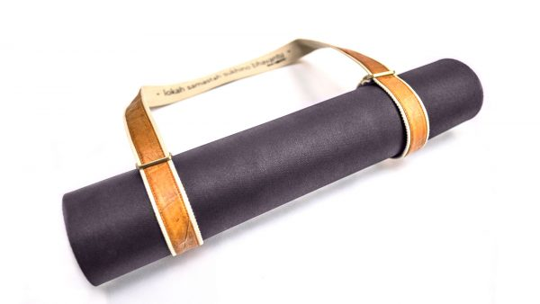 Yoga Mat Sling - vegan leather made from teak leaf