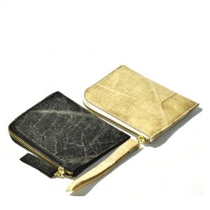 Men's wallet - vegan leaf leather ethical fashion