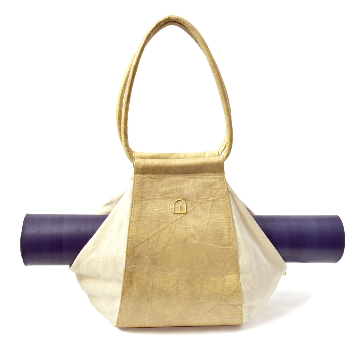 Yoga Shopper Bag -vegan leaf leather